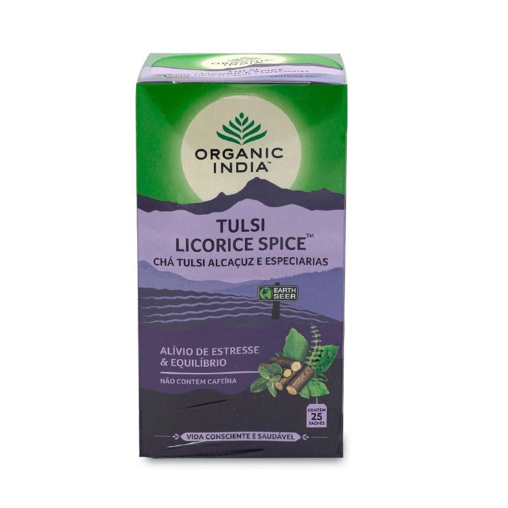 Chás Tulsi Licorice e Tulsi Cleanse  GANHE Caneca Organic India  - KFit Nutrition