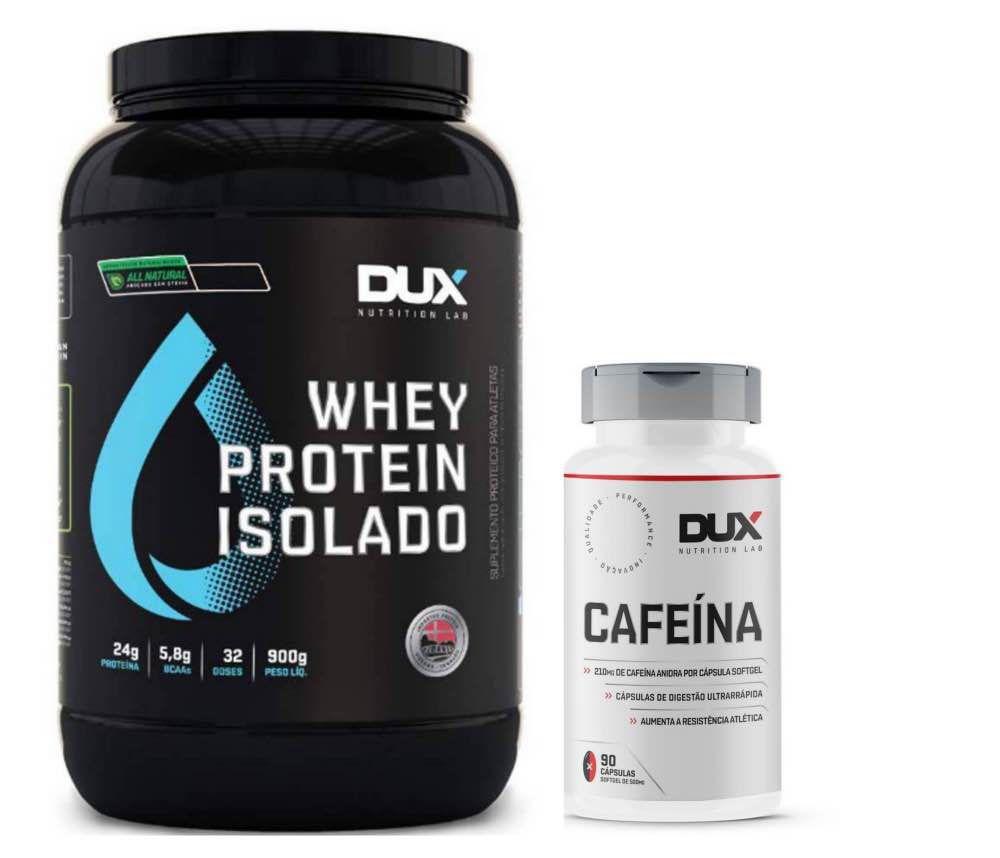 Whey Isolado All Natural Baunilha 900g - Dux + Cafeina  - KFit Nutrition