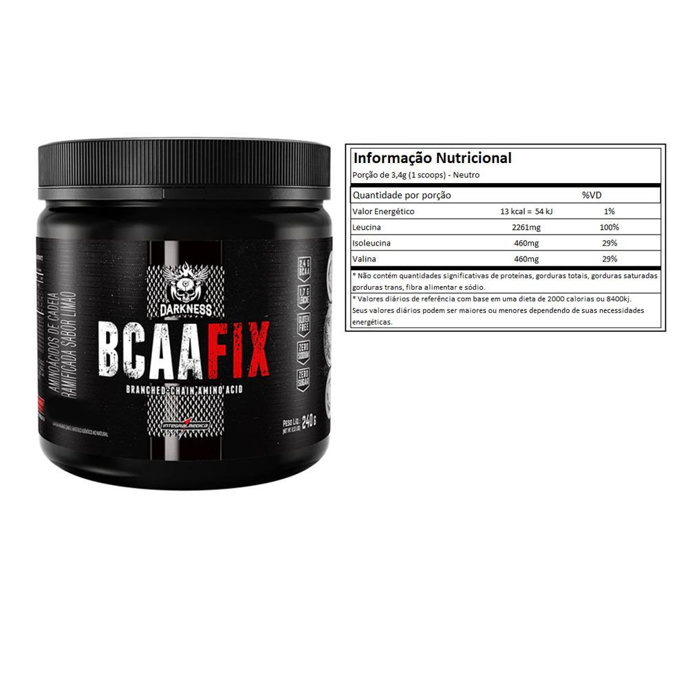 BCAA Fix Powder Neutro 2Un  Integral Medica  - KFit Nutrition