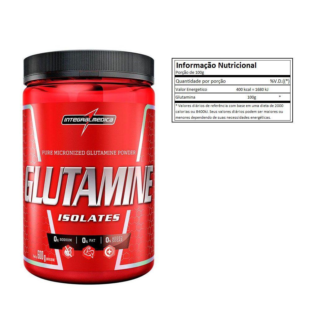 Glutamine 600g  2 Un  Integral Medica  - KFit Nutrition