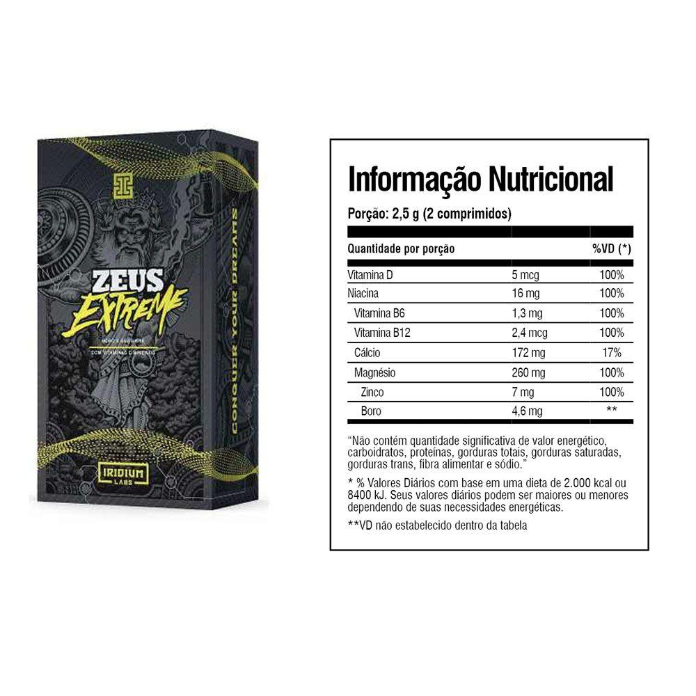 Zeus Extreme 60 Caps 2 Un  Iridium Labs  - KFit Nutrition