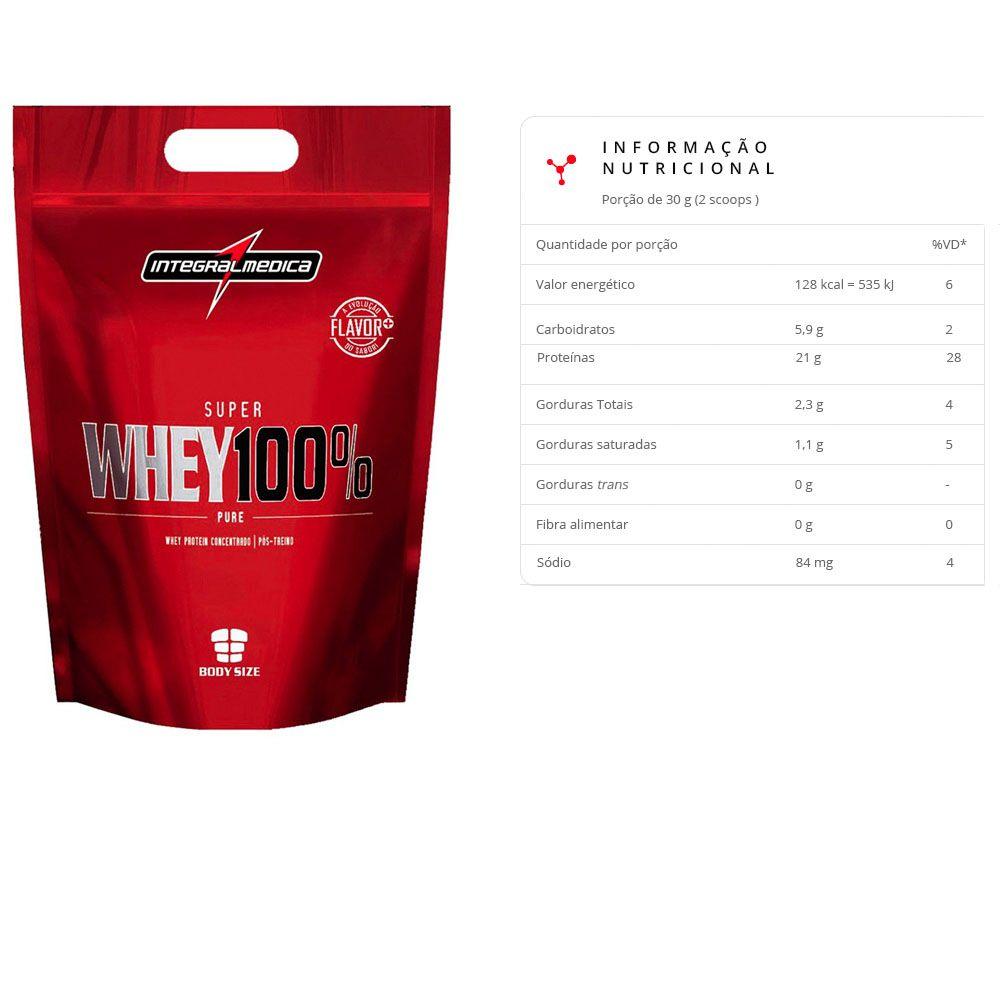 Super Whey 100% Pure 900g Morango 3 unidades  - KFit Nutrition