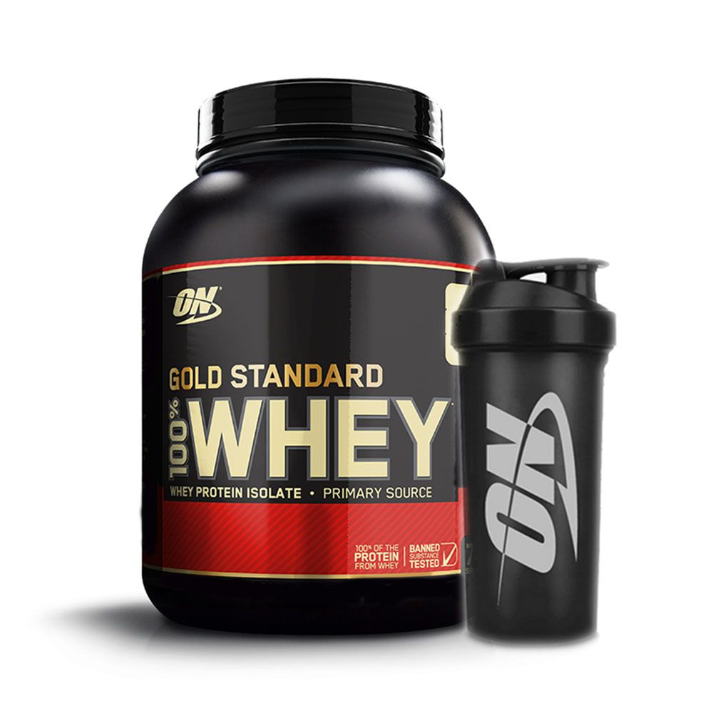 Kit Optimun Gold Standard 900g Chocolate + coqueteleira  - KFit Nutrition