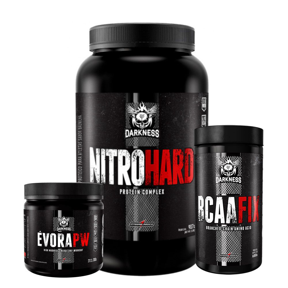 e1321fdcc Kit Kfit Évora Limão + BCAA Fix + Nitro Hard Chocolate
