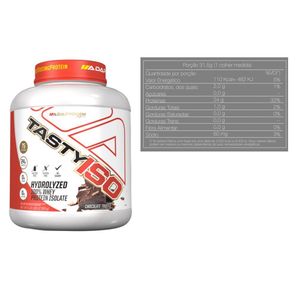 Tasty Iso 5 Lbs Chocolate + Energy Plus Orange + Bottle  - KFit Nutrition
