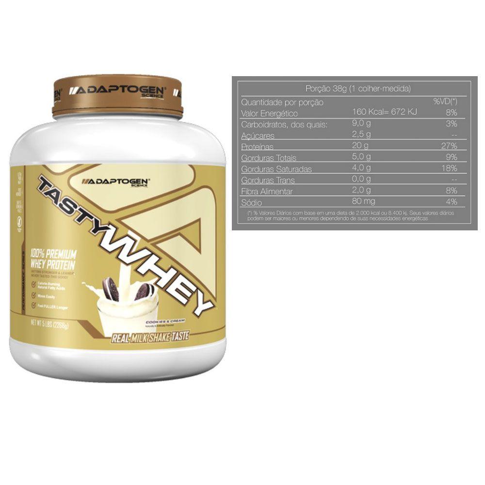 Tasty Whey 5 LB Cookies + Creatina 200g + Bottle 500ml  - KFit Nutrition