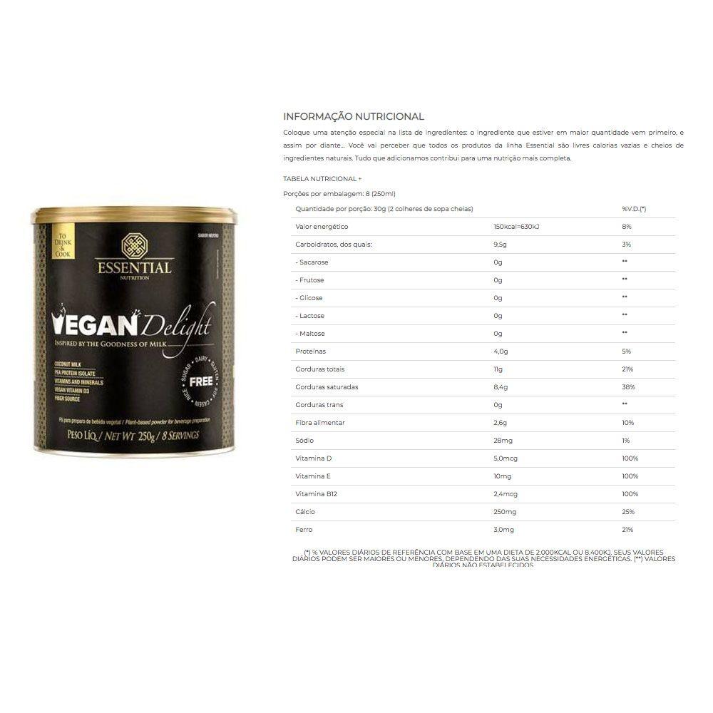 Vegan Delight 250g + VeganPro 550g Baunilha + Bottle  - KFit Nutrition