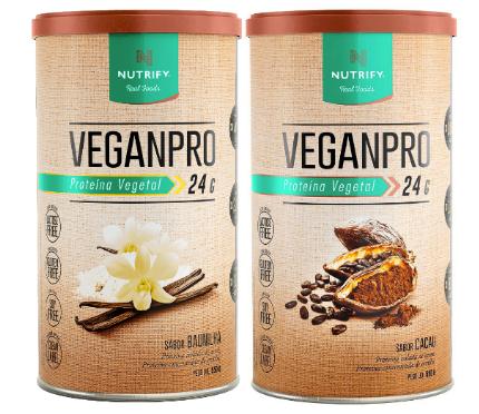 VeganPro Baunilha + VeganPro Cacau  - KFit Nutrition