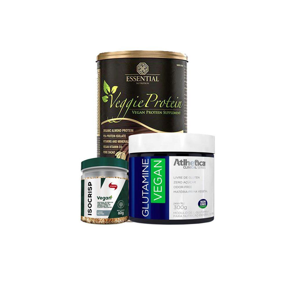 Veggie Protein - Baunilha + Glutamina + Isocrisp  - KFit Nutrition