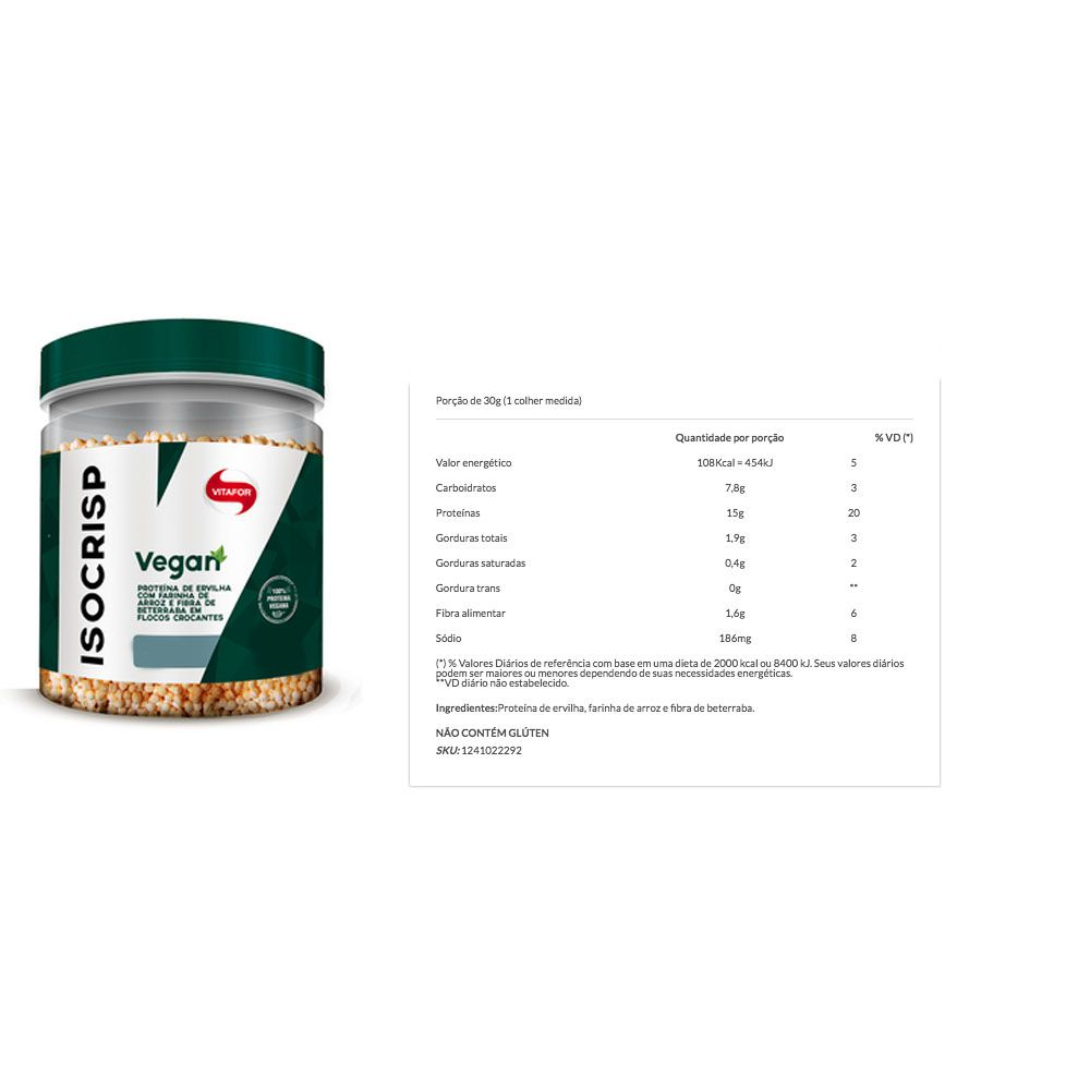 Veggie Protein - Cacao + Glutamina + Isocrisp  - KFit Nutrition
