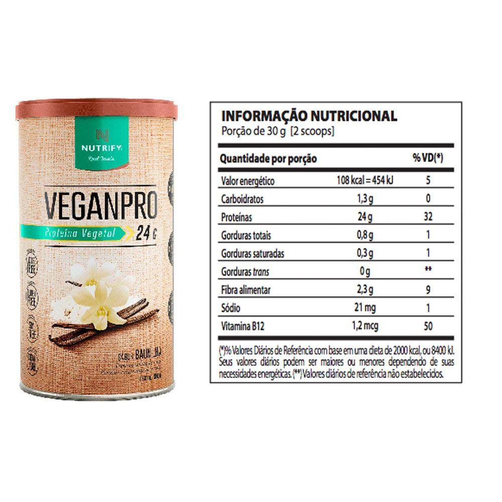 Veggie Whey Banana + VeganPro Baunilha 550g + Bottle  - KFit Nutrition