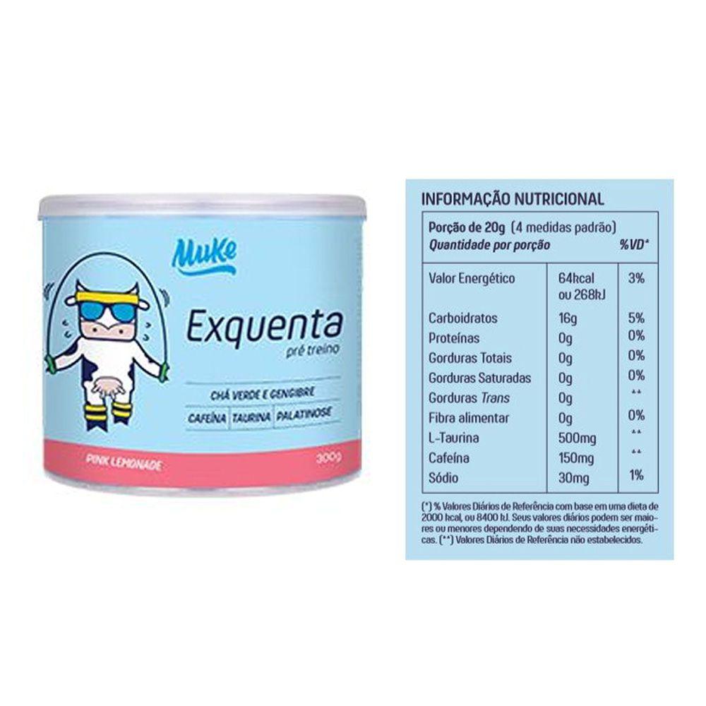 Whey Baunilha Muke 450g + Bolsa + Exquenta + Garrafinha  - KFit Nutrition