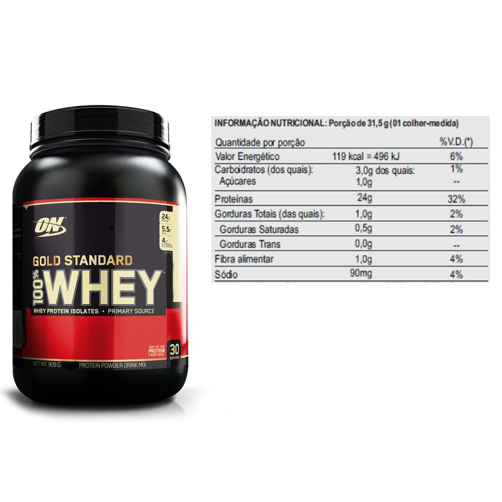 Kit Whey Gold Standard 900g Chocolate + Creatina 300g - Dux  - KFit Nutrition