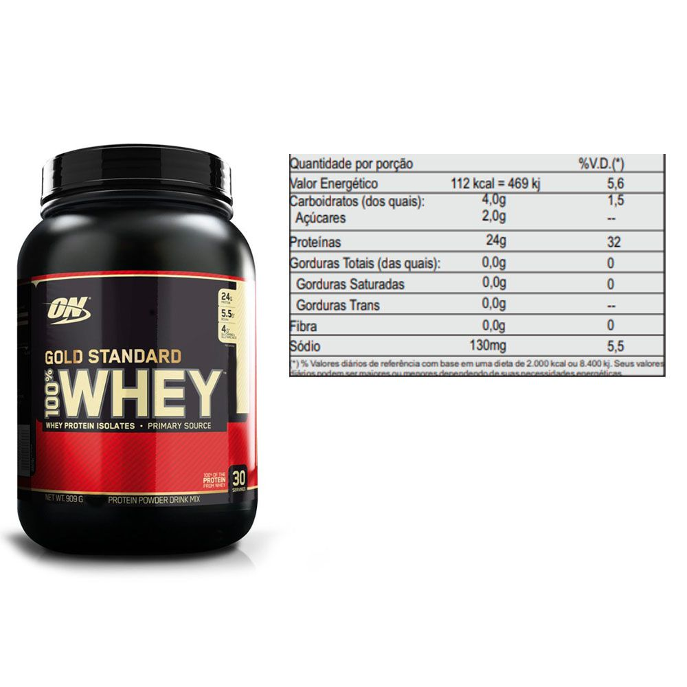 Whey Gold Standard 900g Morango + Creatina 300g - Dux  - KFit Nutrition