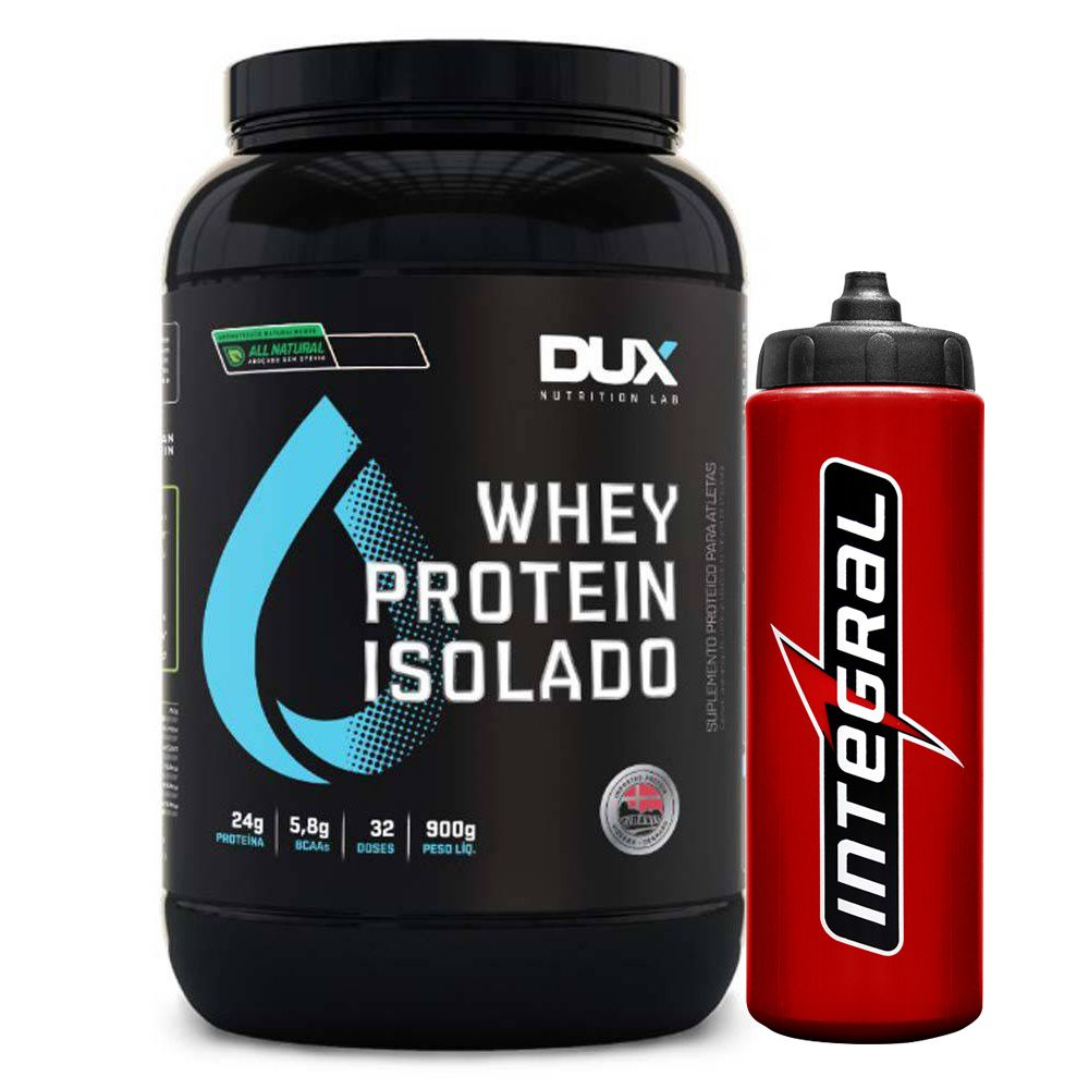 Whey Isolado All Natural Chocolate + Squeeze Vermelho  - KFit Nutrition