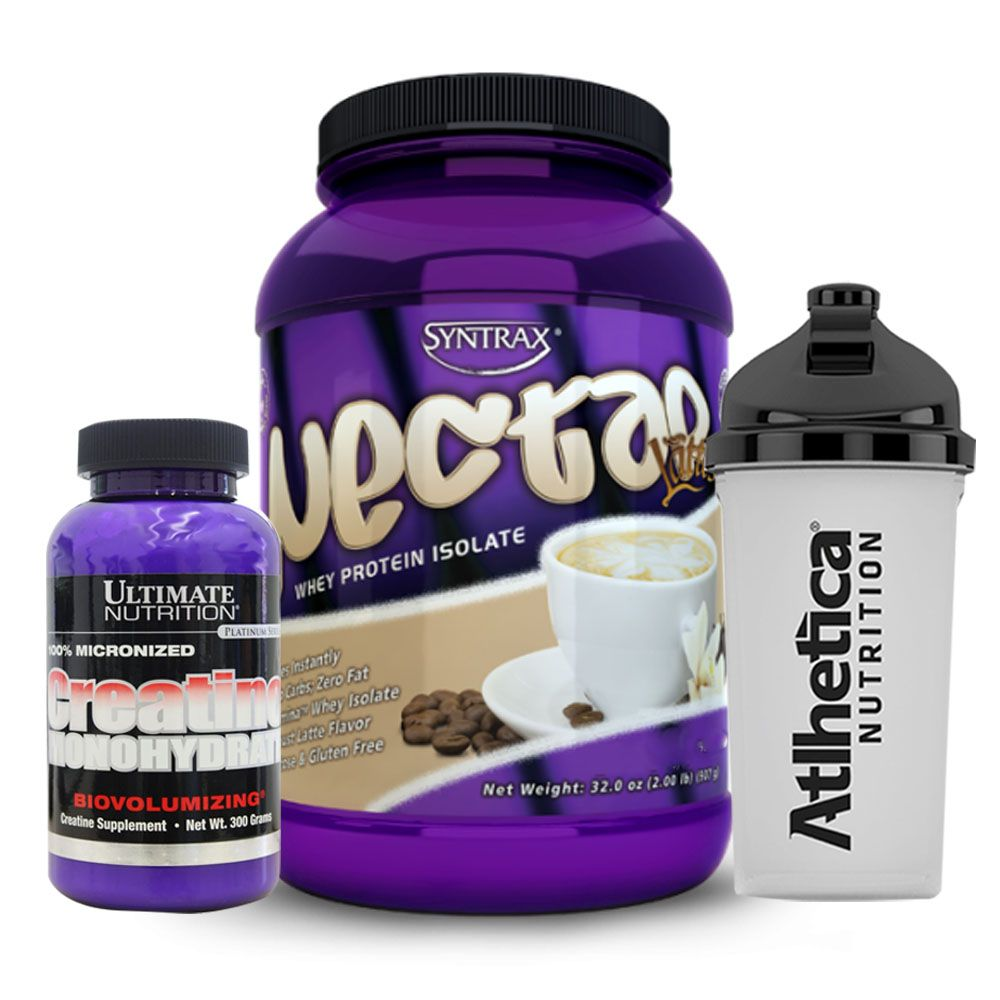 Whey Nectar 900g Cappuccino + Creatina + Bottle  - KFit Nutrition