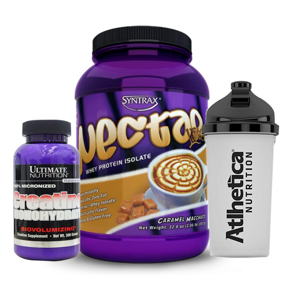 Whey Nectar 900g Caramel Macchiato + Creatina + Bottle  - KFit Nutrition