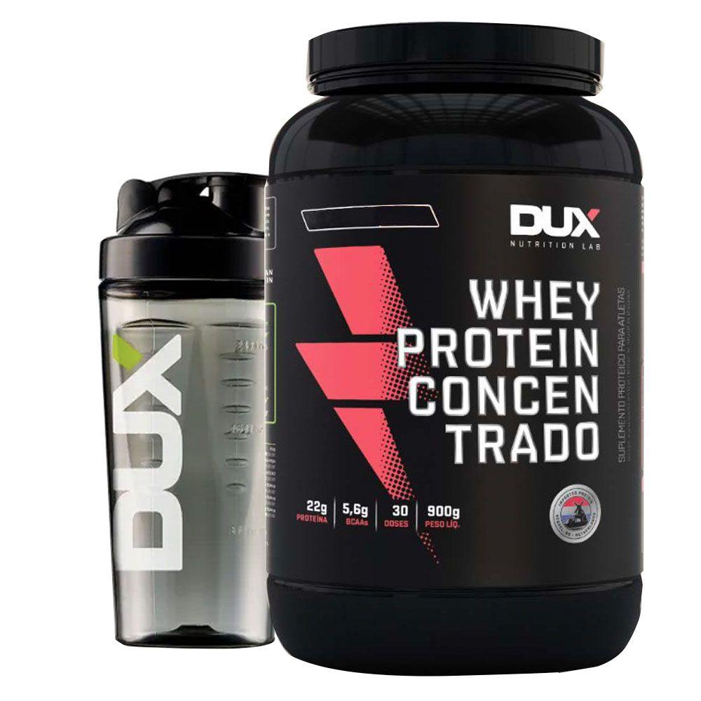 Whey Protein Concentrado 900g Coco + Coqueteleira Dux 600ml  - KFit Nutrition