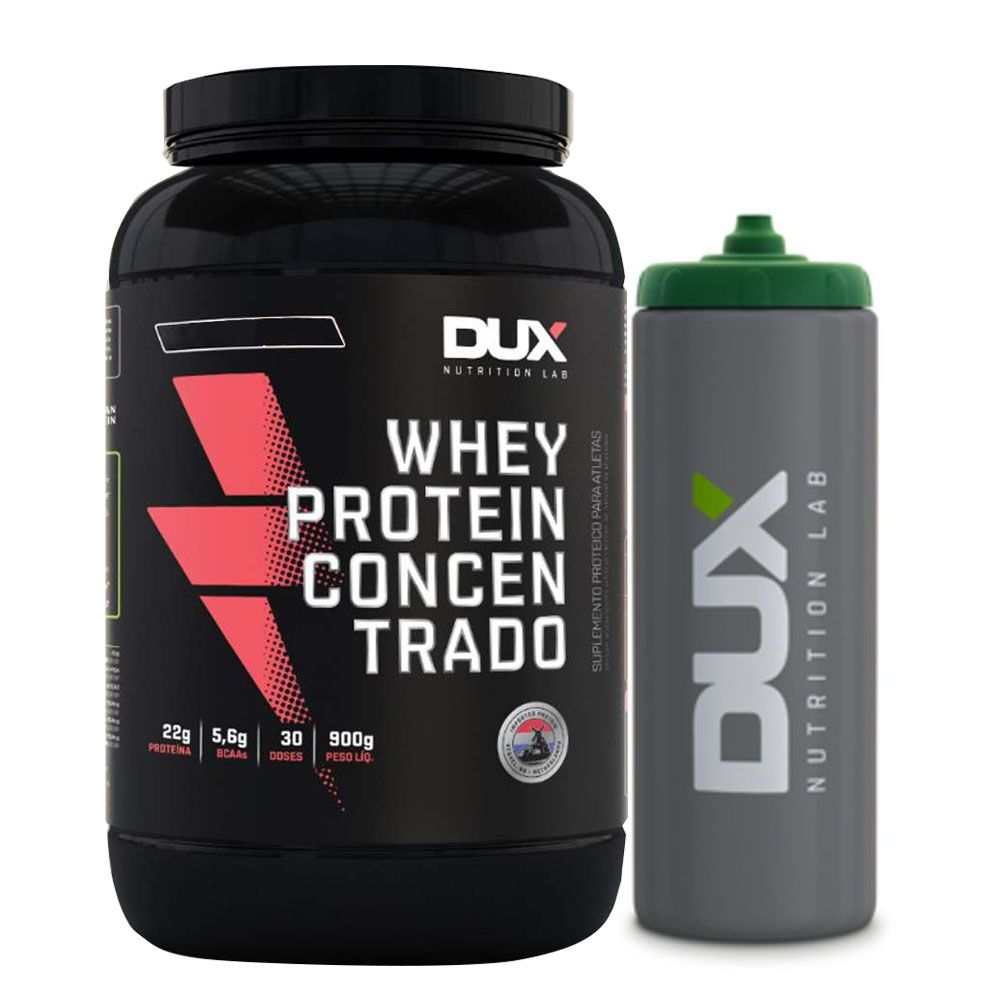 Whey Protein Concentrado Chocolate - Dux + Squeeze Prata  - KFit Nutrition