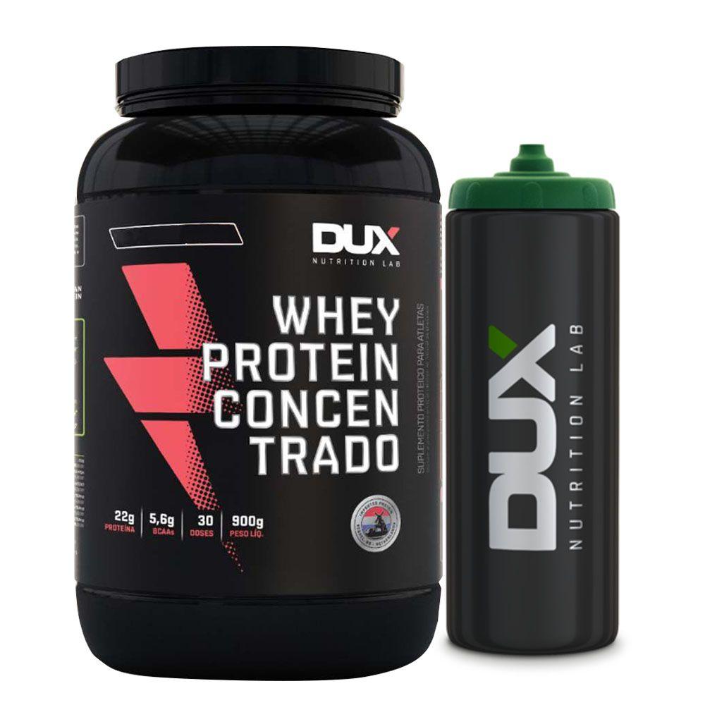 Whey Protein Concentrado Morango - Dux + Squeeze Preto  - KFit Nutrition