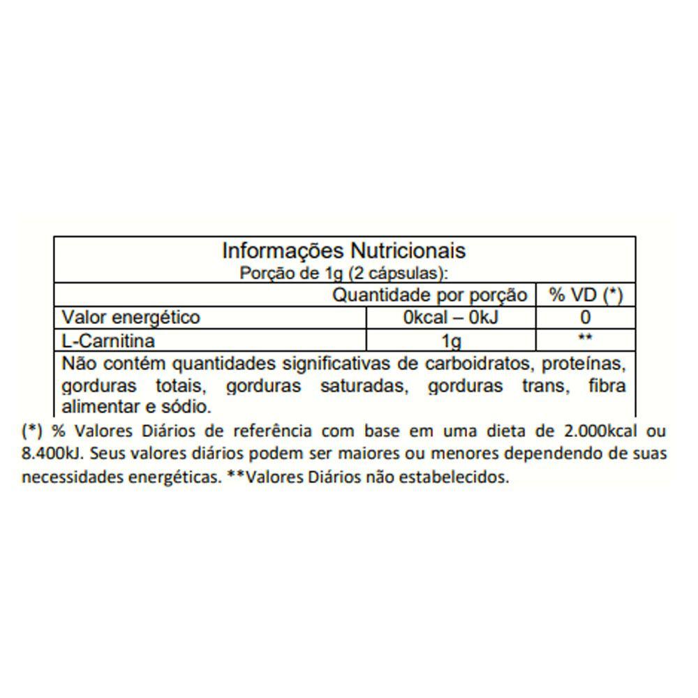L-Carnitina 120 CAPS Vitafor  - KFit Nutrition