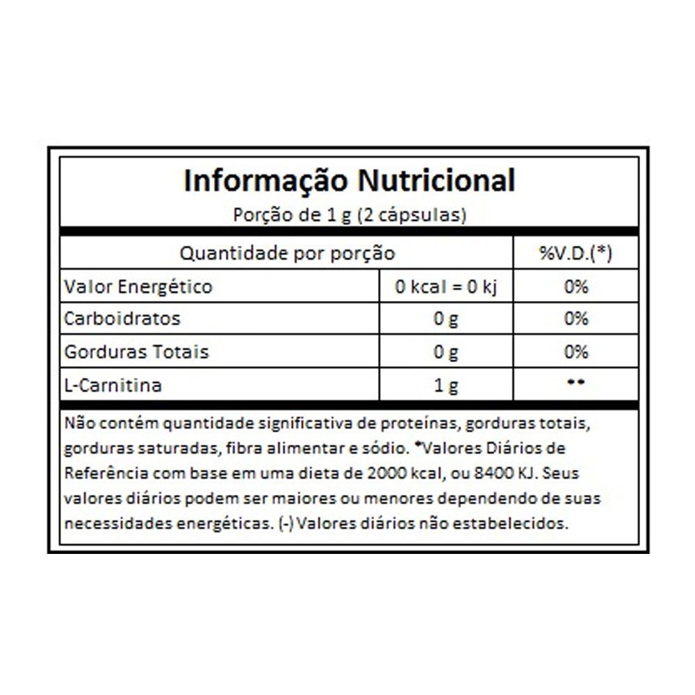 L-Carnitina 60 caps Vitafor  - KFit Nutrition