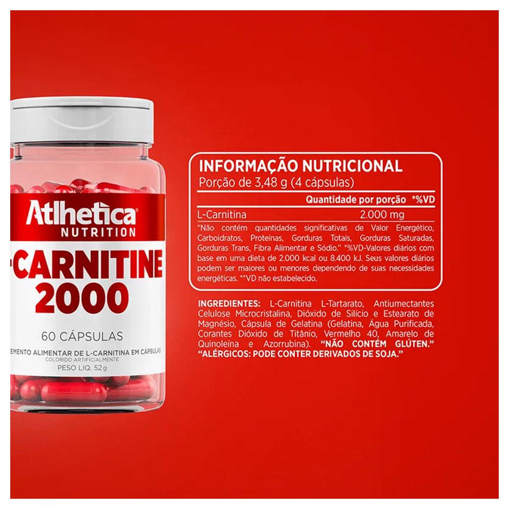 L-carnitine 2000 60 Caps  Atlhetica  - KFit Nutrition