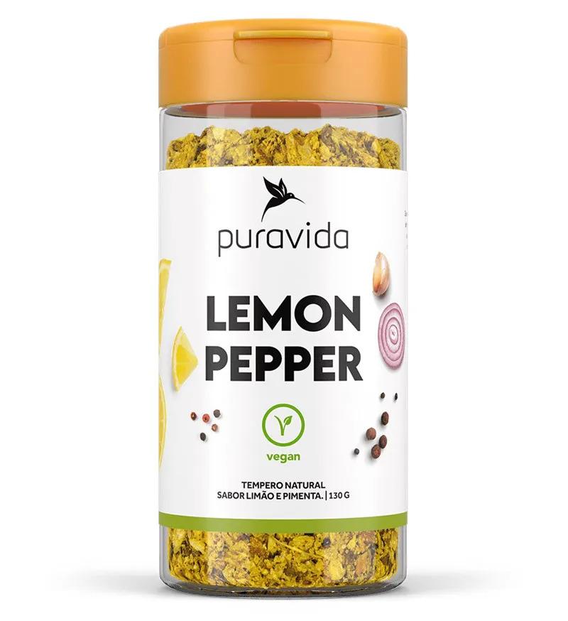Lemon Pepper Tempero 130g  Puravida  - KFit Nutrition