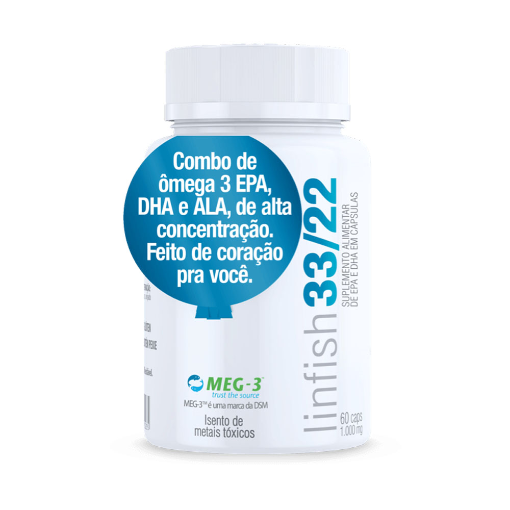 Lin Fish 33/22 60 Caps - Vital Âtman  - KFit Nutrition