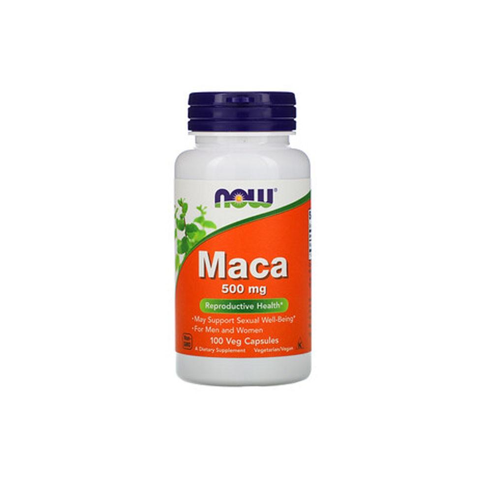 Maca 500mg 100 Veg Cáps - Now Sports  - KFit Nutrition