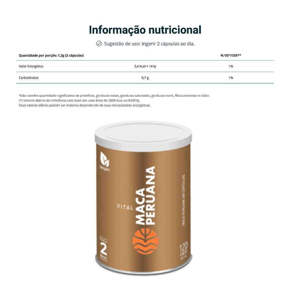 Maca Peruana 120 Caps - Vital Âtman  - KFit Nutrition
