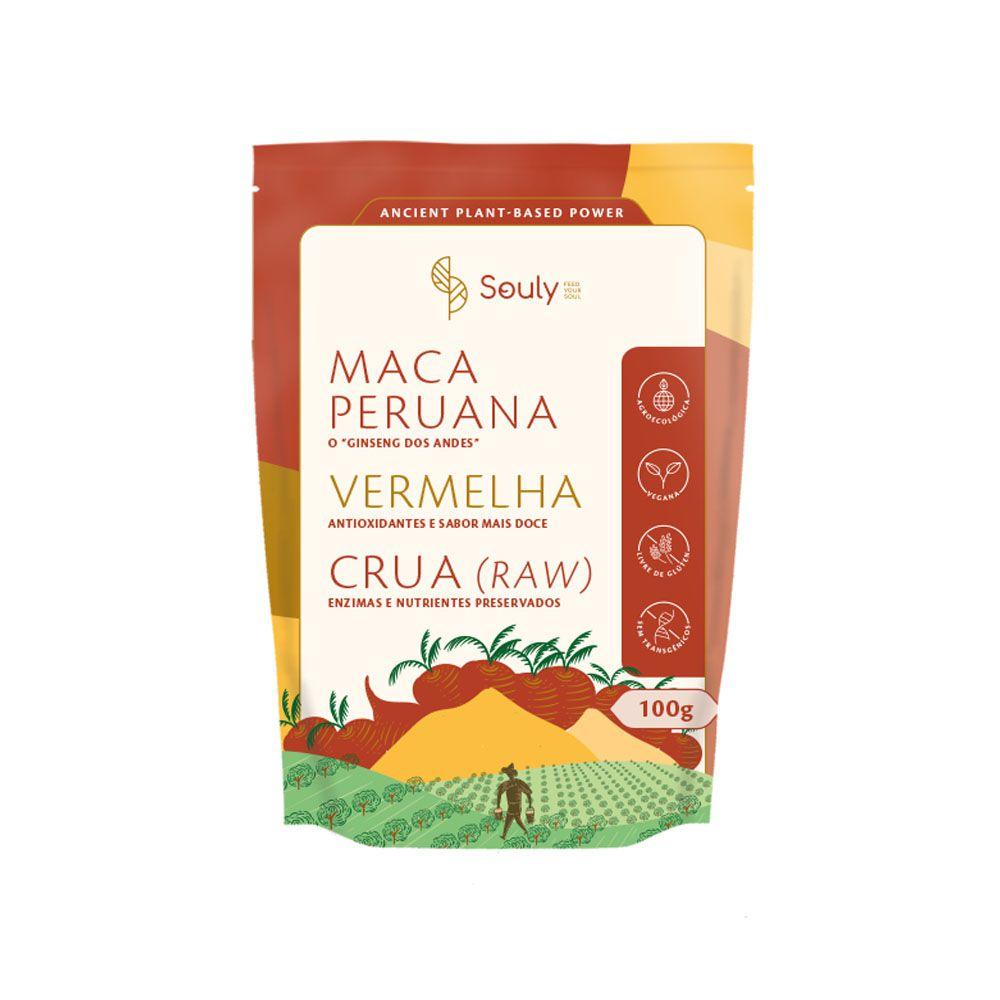 Maca Peruana Vermelha 100g - Souly  - KFit Nutrition