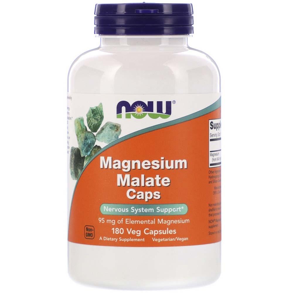 Magnesium Malate 180 Veg Cáps - Now Sports  - KFit Nutrition