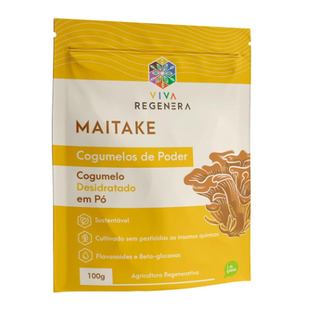 Maitake Cogumelo Desidratado em Pó 100g - Viva Regenera  - KFit Nutrition
