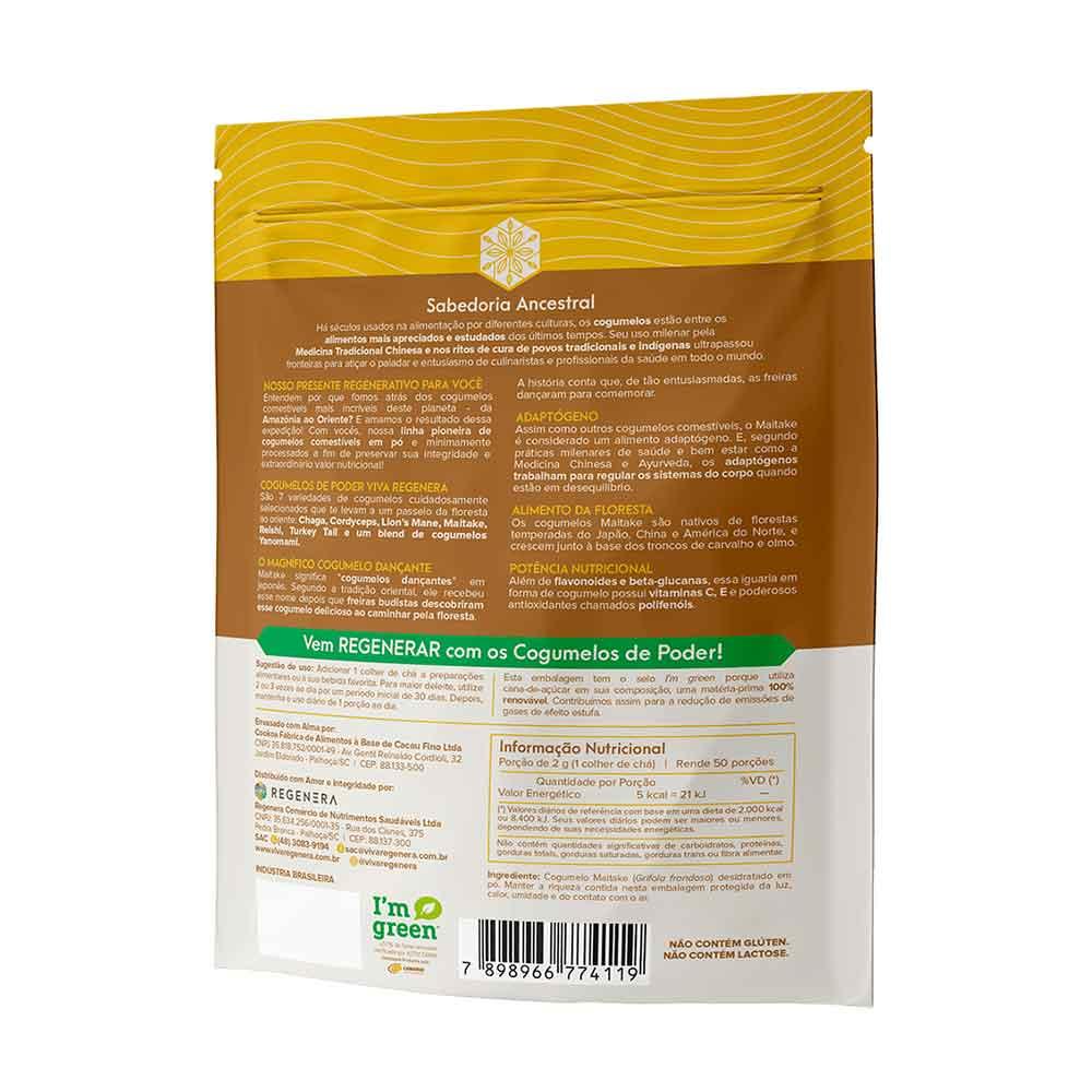 Maitake Cogumelo Desidratado em Pó 100g  Viva Regenera  - KFit Nutrition