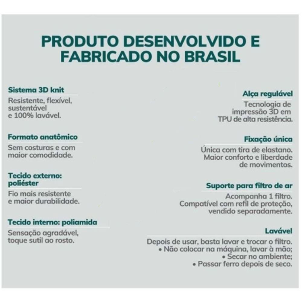 Máscara De Proteção Esporte Fitness Fiber Knit Preto  - KFit Nutrition