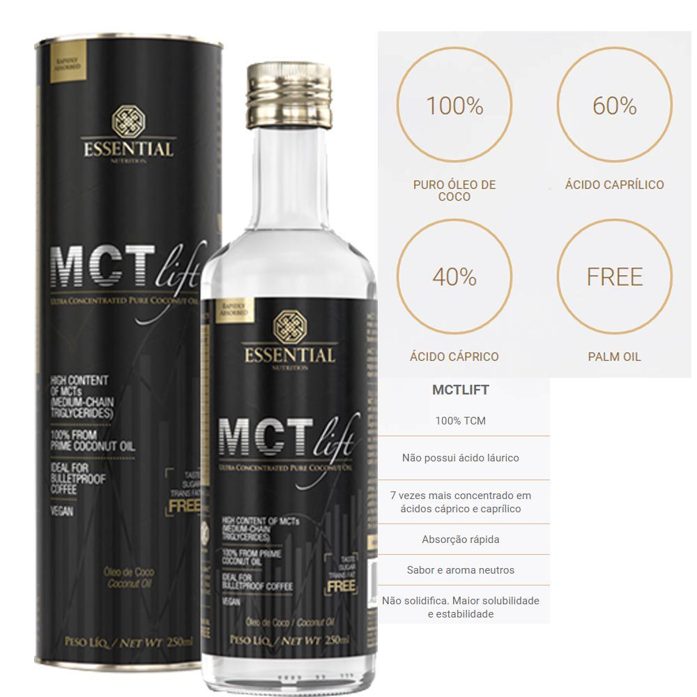 Mct Lift 250ml - Essential  - KFit Nutrition