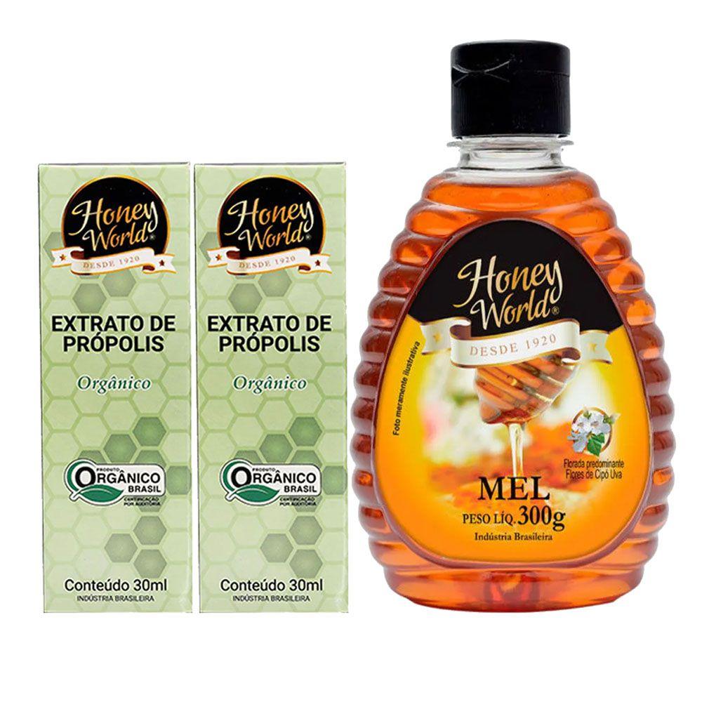 Mel Natural 300g + Propolis Extrato de Própolis 30 Ml 2 Un  - KFit Nutrition