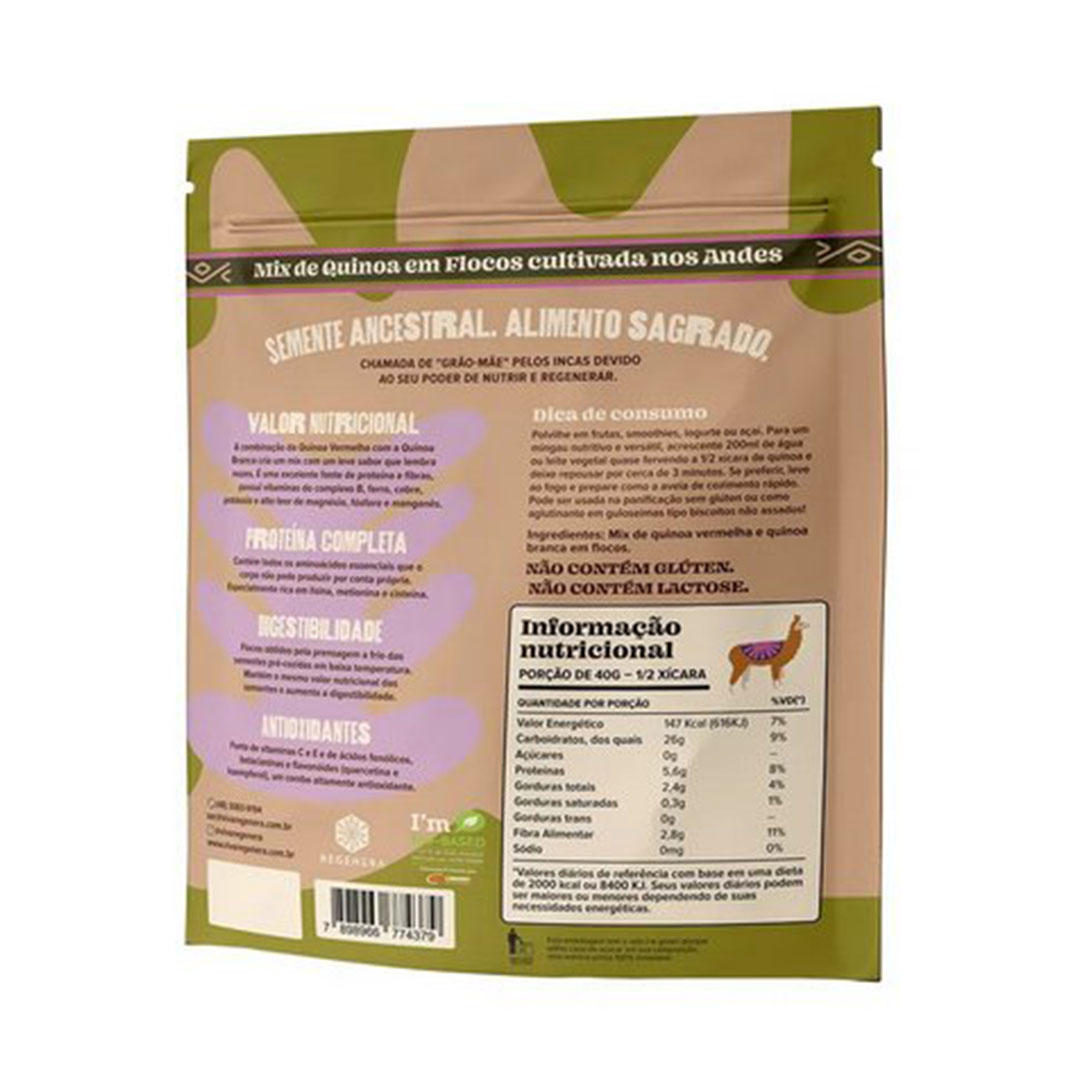 Mix de Quinoa em Flocos 150g Proteina Vegetal  Viva Regenera  - KFit Nutrition