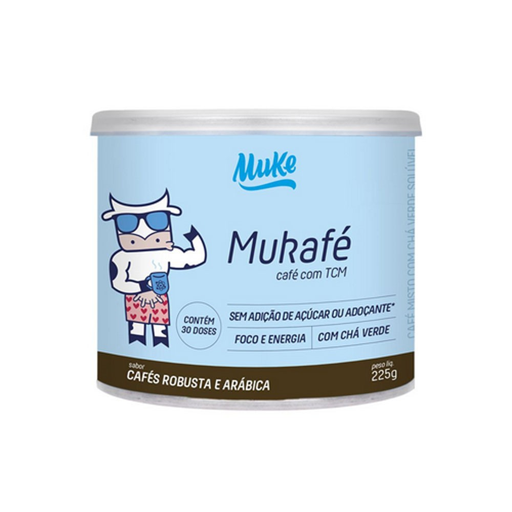 Mukafé com TCM 225g Cafés Robusta e Arábica - Mais Mu  - KFit Nutrition
