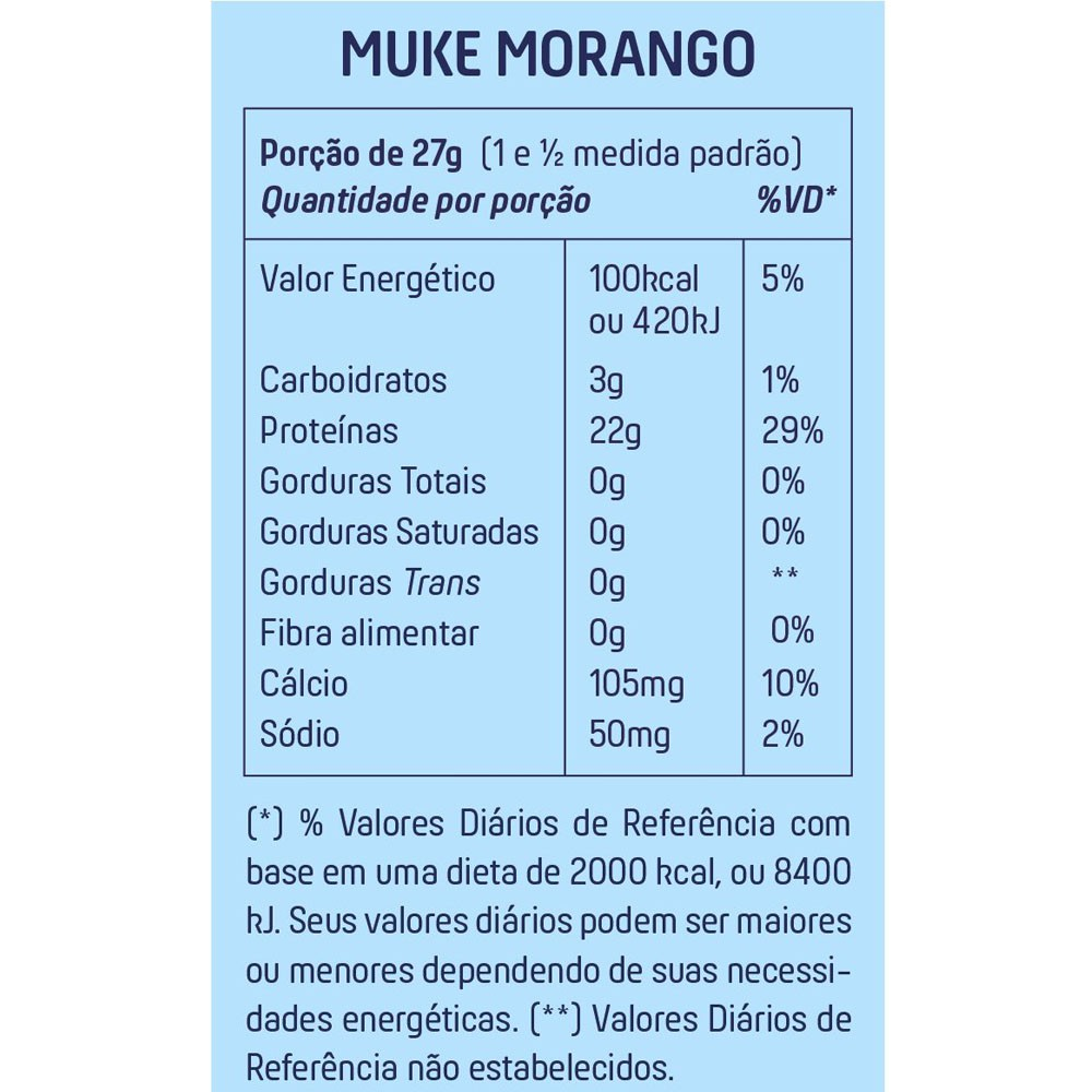 Muke Morango Refil 900 g Mais Mu  - KFit Nutrition