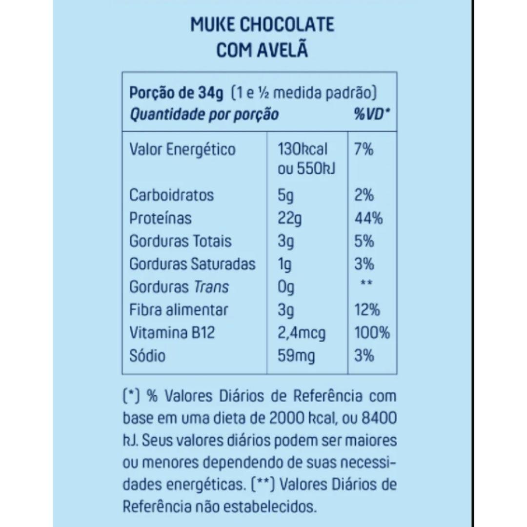 Muke Proteina Vegetal Chocolate Avelã 450g+ Supercoffee 220g  - KFit Nutrition