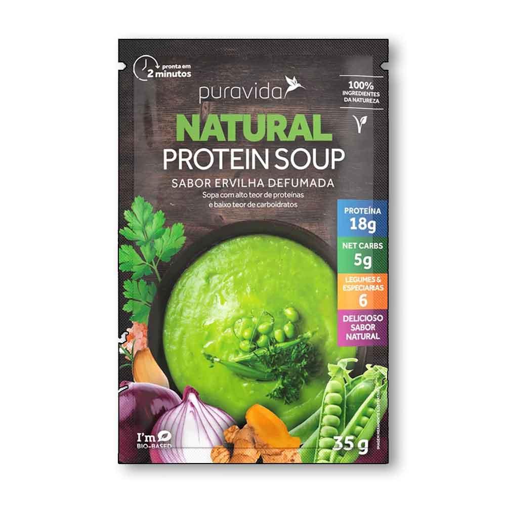 Natural Protein Soup Ervilha Defumada 35g - Pura Vida  - KFit Nutrition