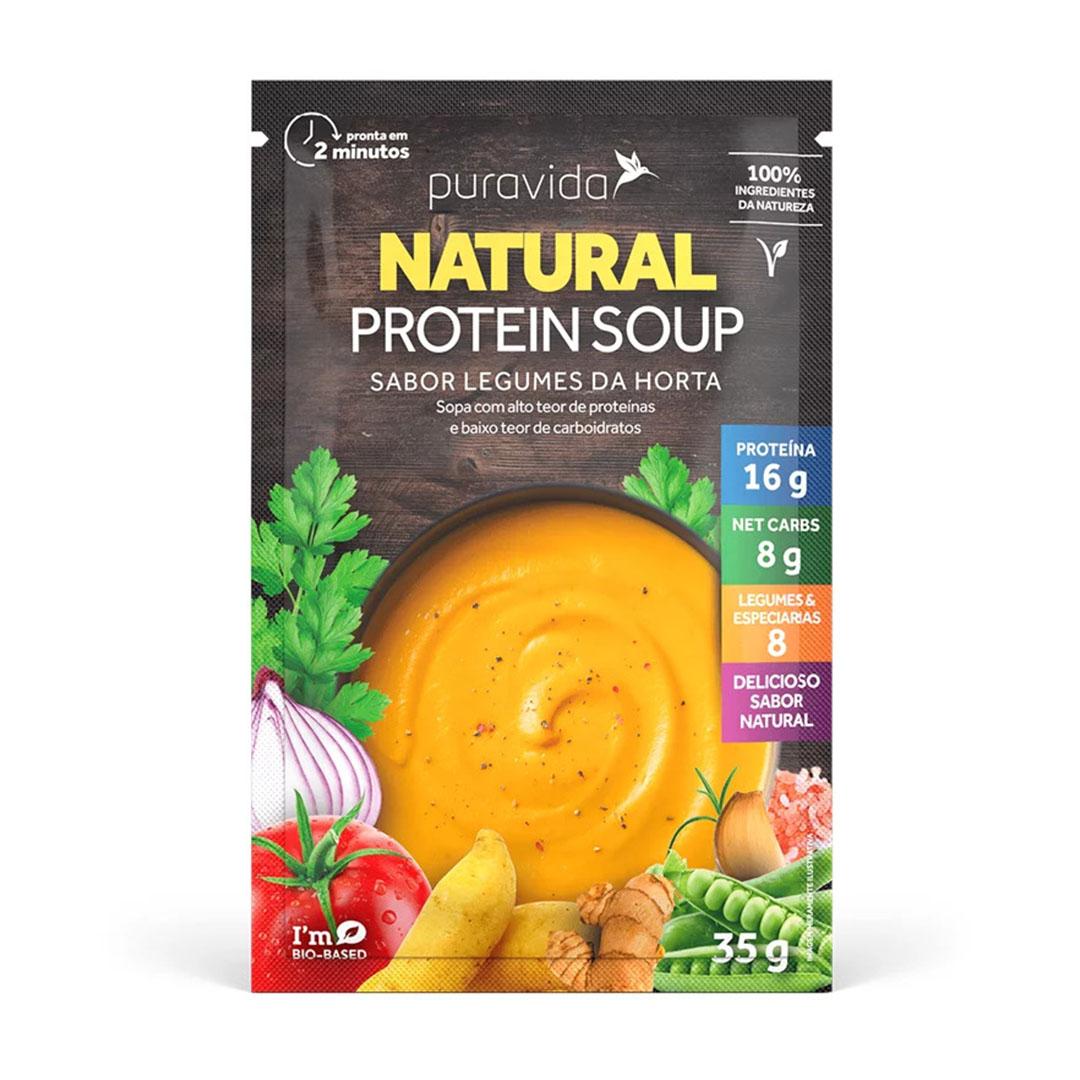 Natural Protein Soup Legumes da Horta 35g - Pura Vida  - KFit Nutrition