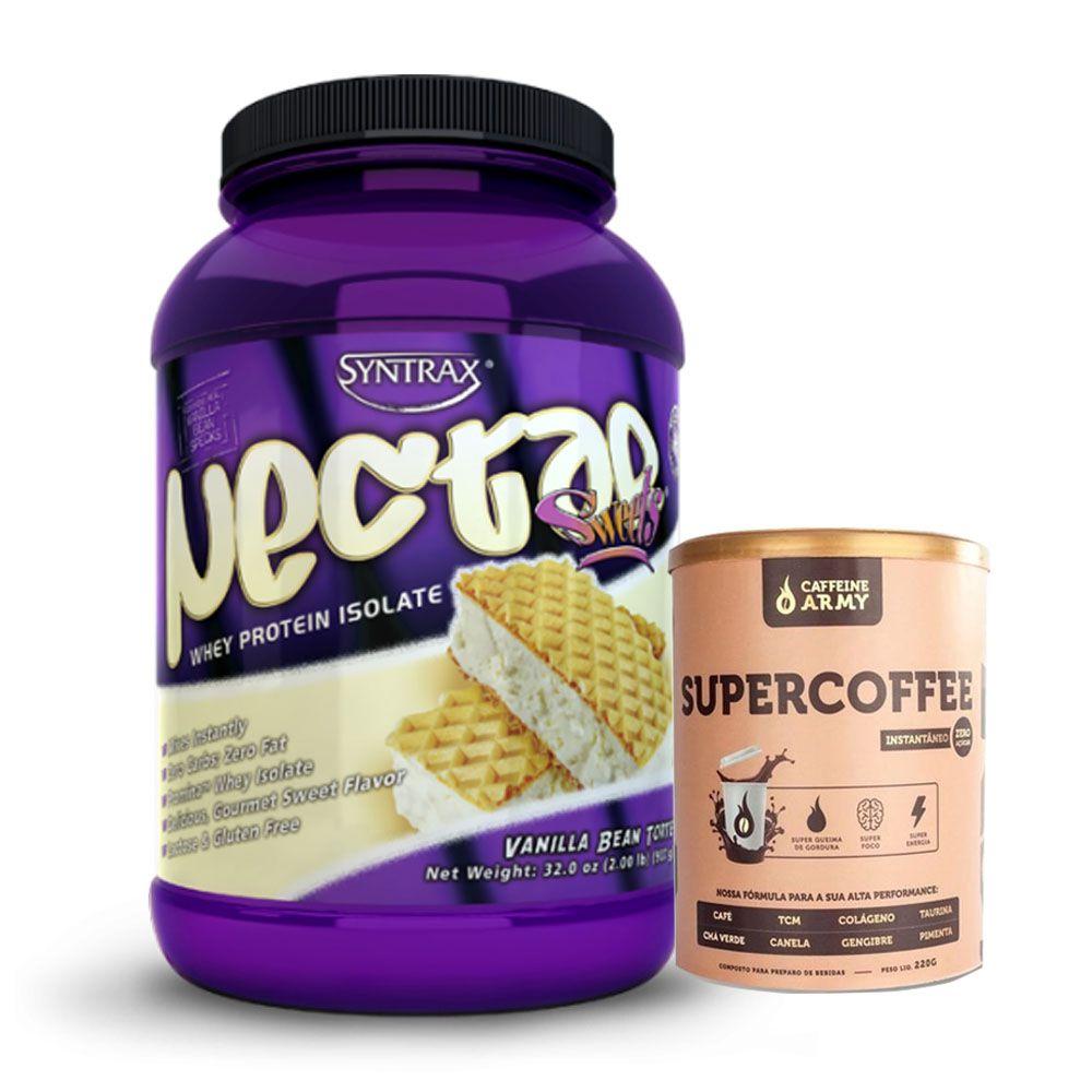 Nectar 907g Vanilla Bean Torte Syntrax +Supercoffee 2.0 220g  - KFit Nutrition