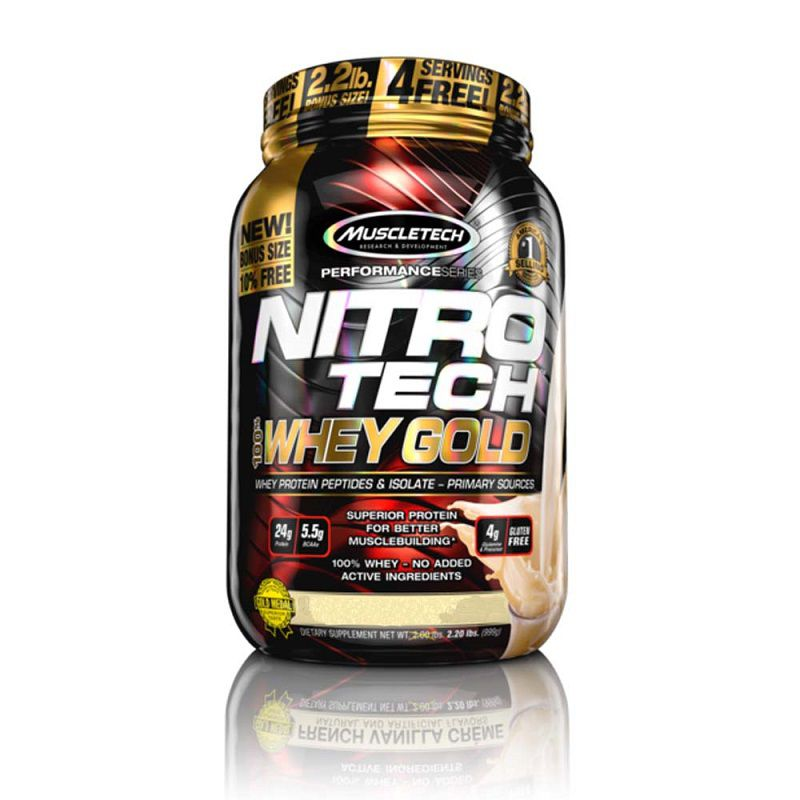Nitro Tech Whey Gold 2,2LB  Muscletech  - KFit Nutrition