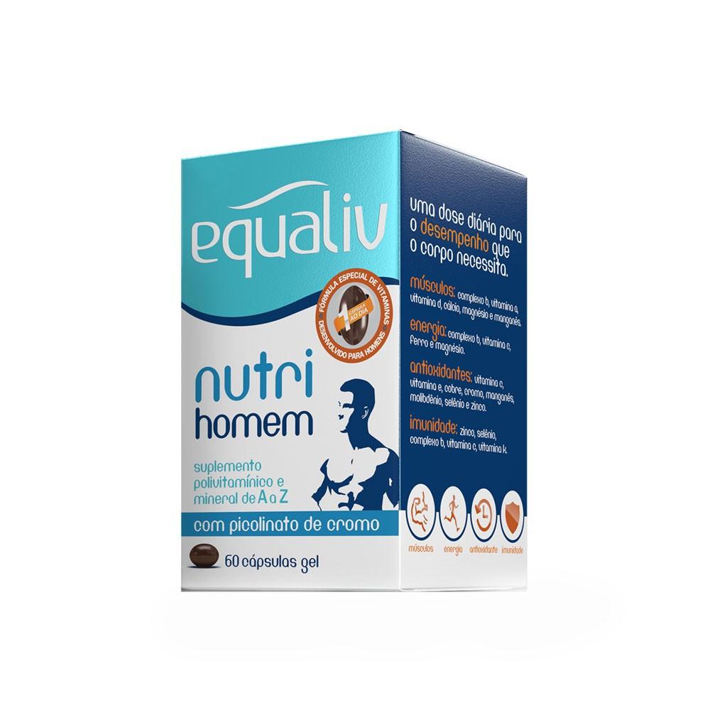 Nutri Homem 60 Cáps em Gel - Equaliv  - KFit Nutrition