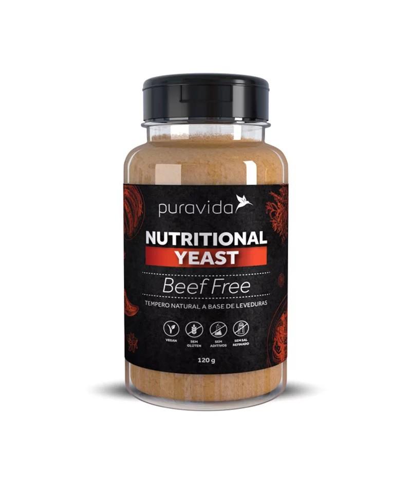 Nutritional Yeast Beef Free 120g - Pura Vida  - KFit Nutrition