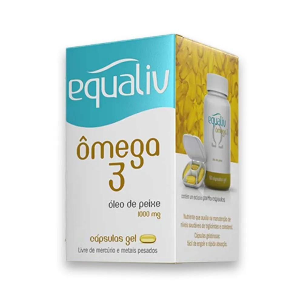 Ômega 3 1000mg 90 Cáps Gel - Equaliv  - KFit Nutrition