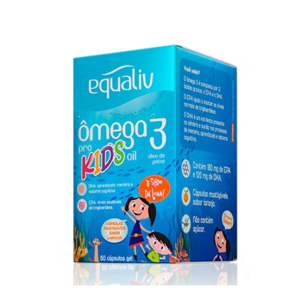 Omega 3 Pro Kids Oil 60 Cáps - Equaliv  - KFit Nutrition